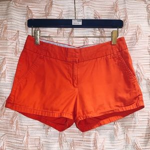 J. Crew Size 2 Red Chino Shorts